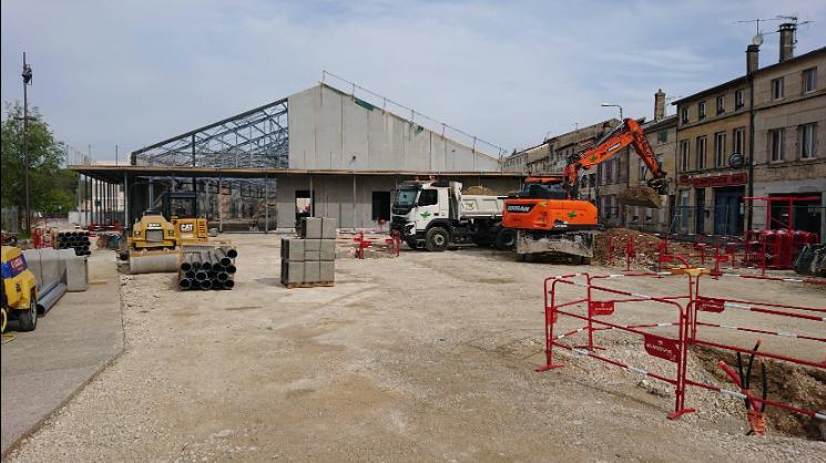 chantier marche couvert Chantier du marché couvert